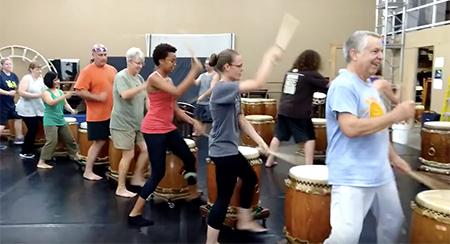 Odaiko Sonora Community Group taiko practice