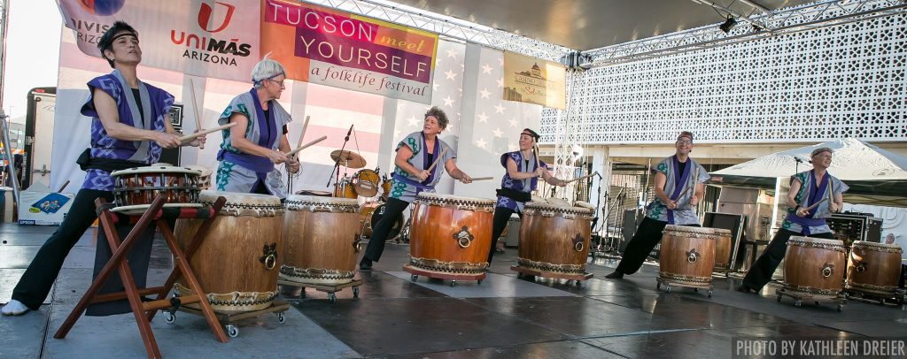Tucson Meet Yourself-Odaiko Sonora - photo by Kathleen Dreier