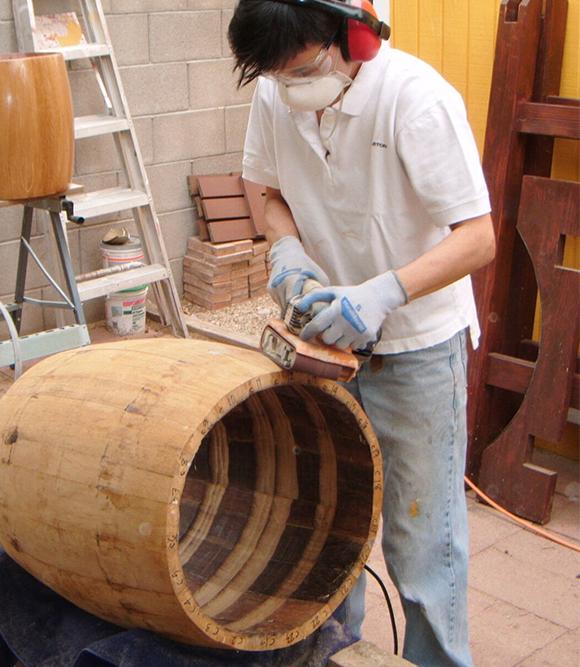 Karen sanding drum