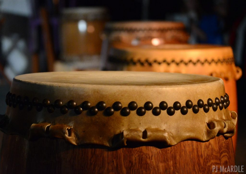 Taiko drums. Photo by PJ Mcardle.