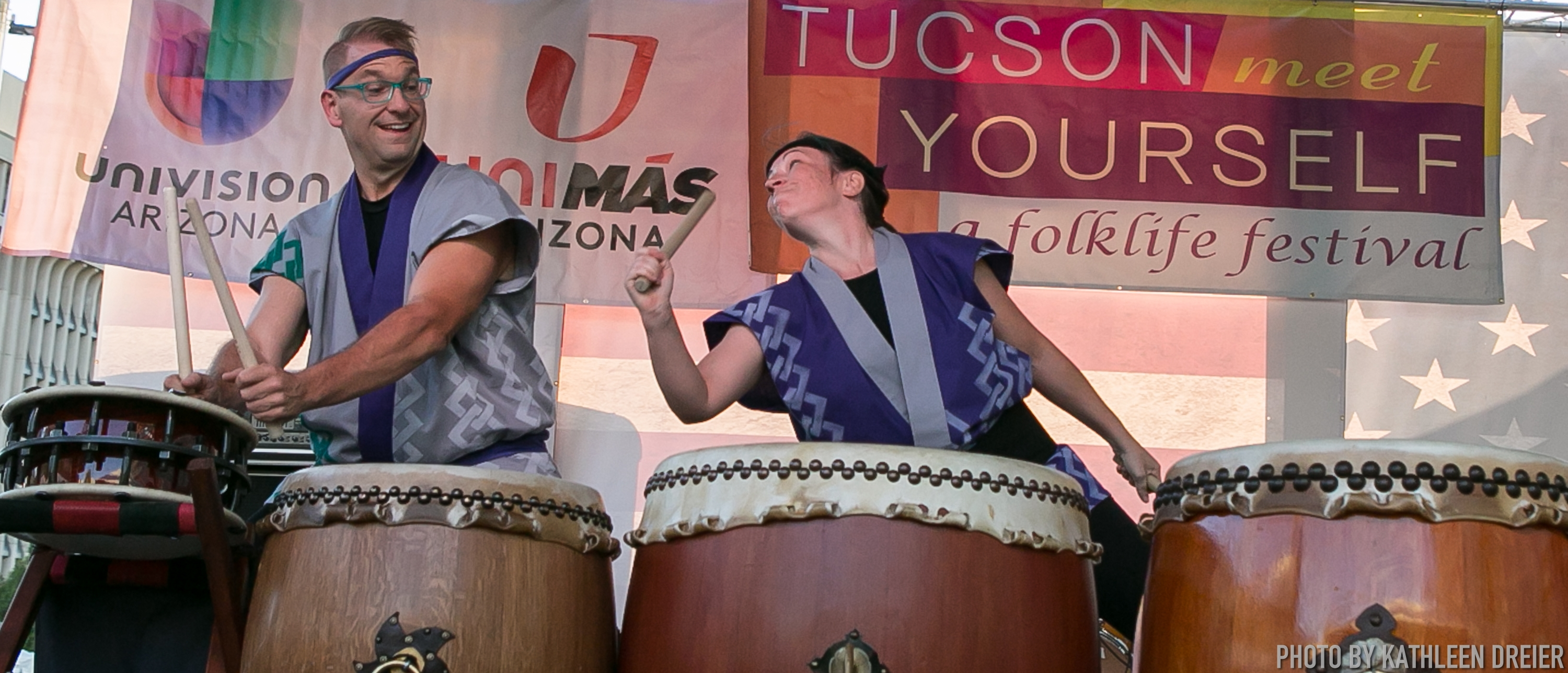 Odaiko Sonora moment at Tucson Meet Yourself, 10/14/17